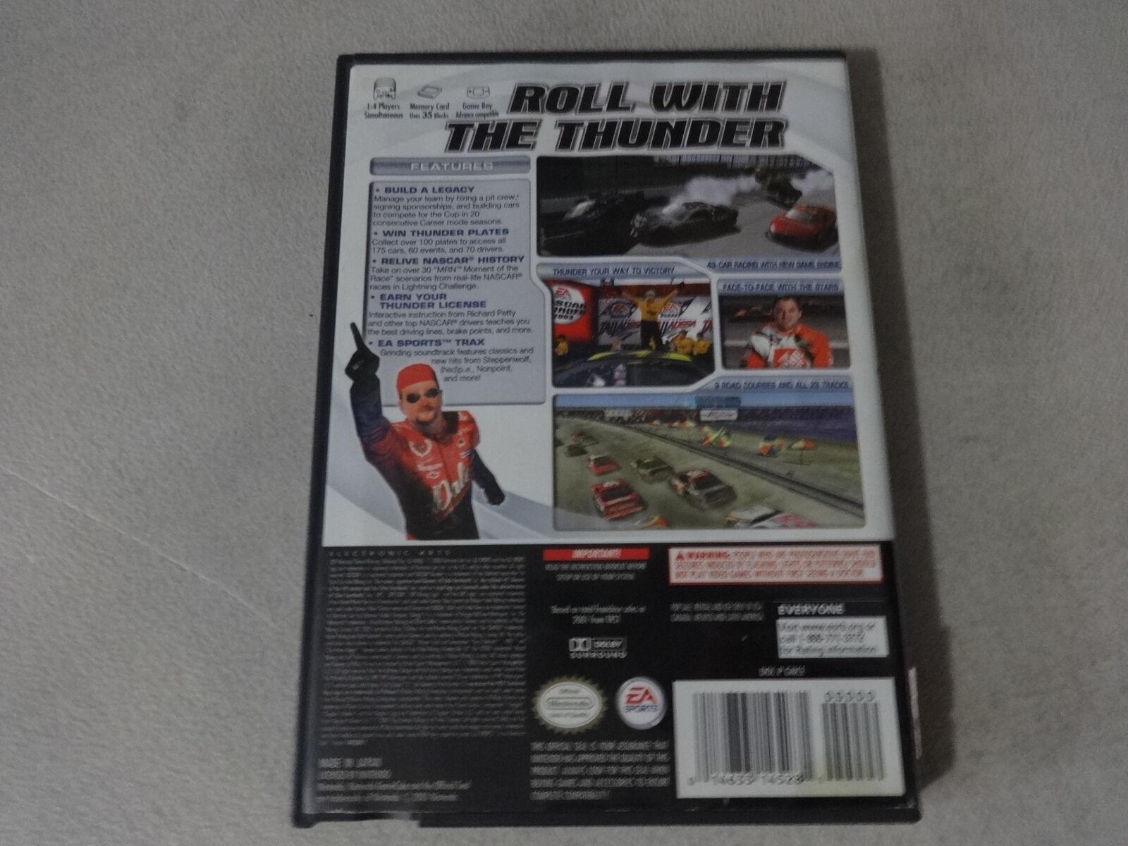 EUC NASCAR Thunder 2003 - Nintendo Gamecube No Manual Free Ship