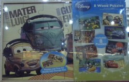 Disney 8 Pack Wood Puzzles - Puzzles and Tray Fit Neatly Into Storage Bo... - $21.73