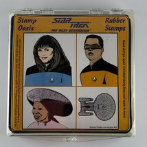Collectible Stamp Oasis Star Trek Rubber Stamps (Set of 2) Original & TGN - $27.70
