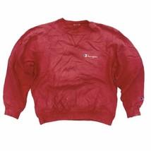 Vintage Champion Crew Neck Sweatshirt Sz M/L Red (Reverse Weave?) Paint ... - $34.99