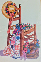 Summer Dreams Counted Cross Stitch Kit Wood Chair Quilt Flowers Bucilla Vintage - $18.79