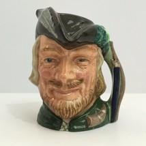 "Royal Doulton Porcelain ""Toby"" character head jug Robin Hood D 6534 (c1959) - $29.65"
