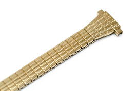 9-12MM Gold Stainless Steel Twist O Flex Tapered Expansion Watch Band Strap - $14.84