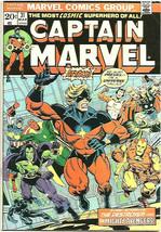 Captain Marvel #31 THANOS JIM STARLIN ART & STORY 1974 Milgrom 1st Marve... - $38.60