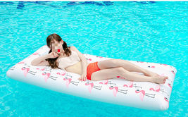 Adults Big Flamingo Inflatable Pool Raft Water Bed Hammock Ride On Float Tube image 3