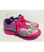 Saucony Kinvara 4 Big Kids Size 6.5 Pink Purple Athletic Walking Workout Shoe - $34.64