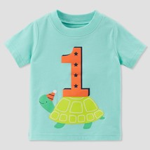 Carter's Baby Boys 1st Birthday Short sleeve T-Shirt Turtle 12Months Top... - $12.60