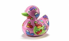Romero Britto Pink Love Duck Figurine Limited Edition NEW