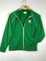 American Eagle Outfitter Men Jacket Track Old School Shamrock Green Size M  - $24.66