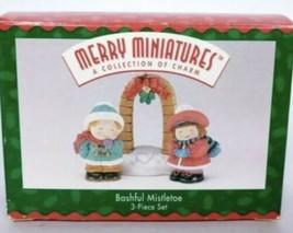 Hallmark Merry Miniatures Bashful Mistletoe 3 pc Set 1996  NEW In Box - $15.76