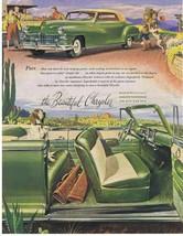 1947 Chrysler desert Springer Spaniel hunting Cacti Print Ad - $9.99