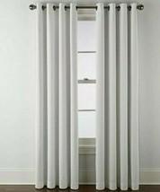 (1) Liz Claiborne Holland Linen Cool White 100% BLACKOUT Grommet 50x84 Curtain - $69.29
