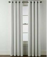 (1) Liz Claiborne Holland Linen Cool White 100% BLACKOUT Grommet 50x84 C... - $69.29