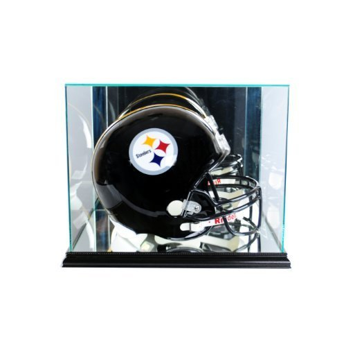 Perfect Cases NFL Rectangle Football Helmet Glass Display Case, Black