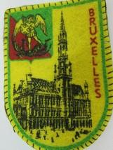 Vintage Bruxelles Brussels Crest Flag Patch 47252 Souvenir  - $11.87