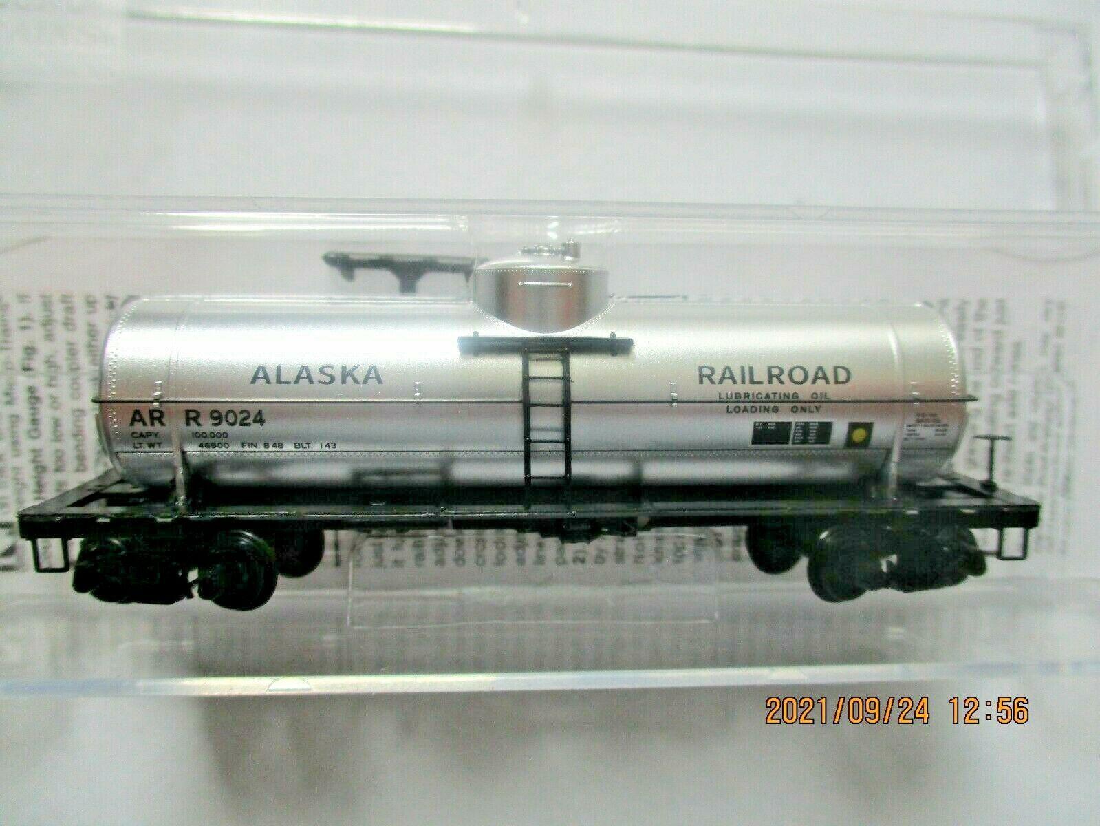 Micro-Trains # 06500256 Alaska Railroad 39' Single Dome Tank Car N-Scale