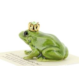 Birthstone Frog Prince August Simulated Peridot Miniatures by Hagen-Renaker image 3