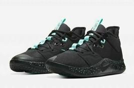 Nike PG 3 Black Light Aqua Paul George Mens Basketball Shoes AO2607-006 ... - $129.99