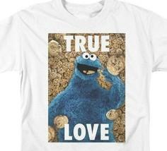Sesame Street T-shirt Cookie Monster True Love Retro TV graphic tee SST145 image 2