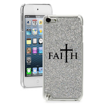 For Apple iPod Touch 4th 5th 6th Glitter Bling Hard Case Cover Faith Cross - $14.99