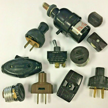 Lot of Vintage Bakelite and Plastic Switches - Lamp Light Parts, Bryant ... - $9.74