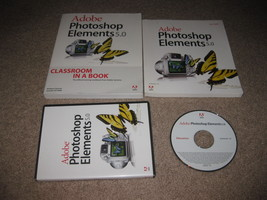 Adobe Photoshop Elements 5.0 For Windows PC w/ Classroom In A Boox - $19.99