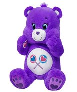 Build a Bear Share Care Bears Purple Teddy 17in... - $89.95