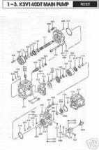 KAWASAKI K3V 140 DT Hydrostatic/ Hydraulic Pistons 9 PC - $347.25
