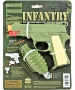 WWII Colt 1911 45CAL Pistol Toy Replica Cap Gun And Cap Grenade Infantry... - $13.85