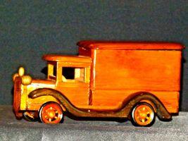 Wooden Toy Milk Truck AA19-1569 Vintage image 8
