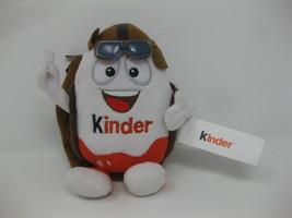 "Kinder Chocolate Surprise Egg Holder Plush Aviator Mascot Doll Toy 7"" - $15.83"