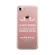 God Made Us Pink BFF Phone Case Cute Clear Phonecase - $190,41 MXN
