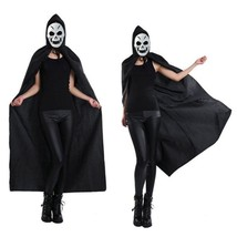 Halloween Hooded Cape Witch Adult Devil Robe Floor Length Cosplay Party ... - $9.99