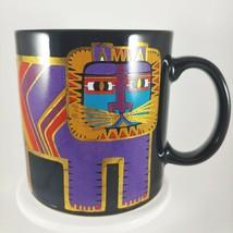 vtg LAUREL BURCH Lion Big Cat Mug Coffee Cup 14oz Colorful Gold Black - $22.43