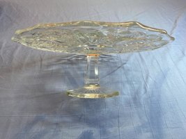 Vintage Large Crystal Glass Fruit Bowl Edge Pedestal Footed Decorative S... - $60.99