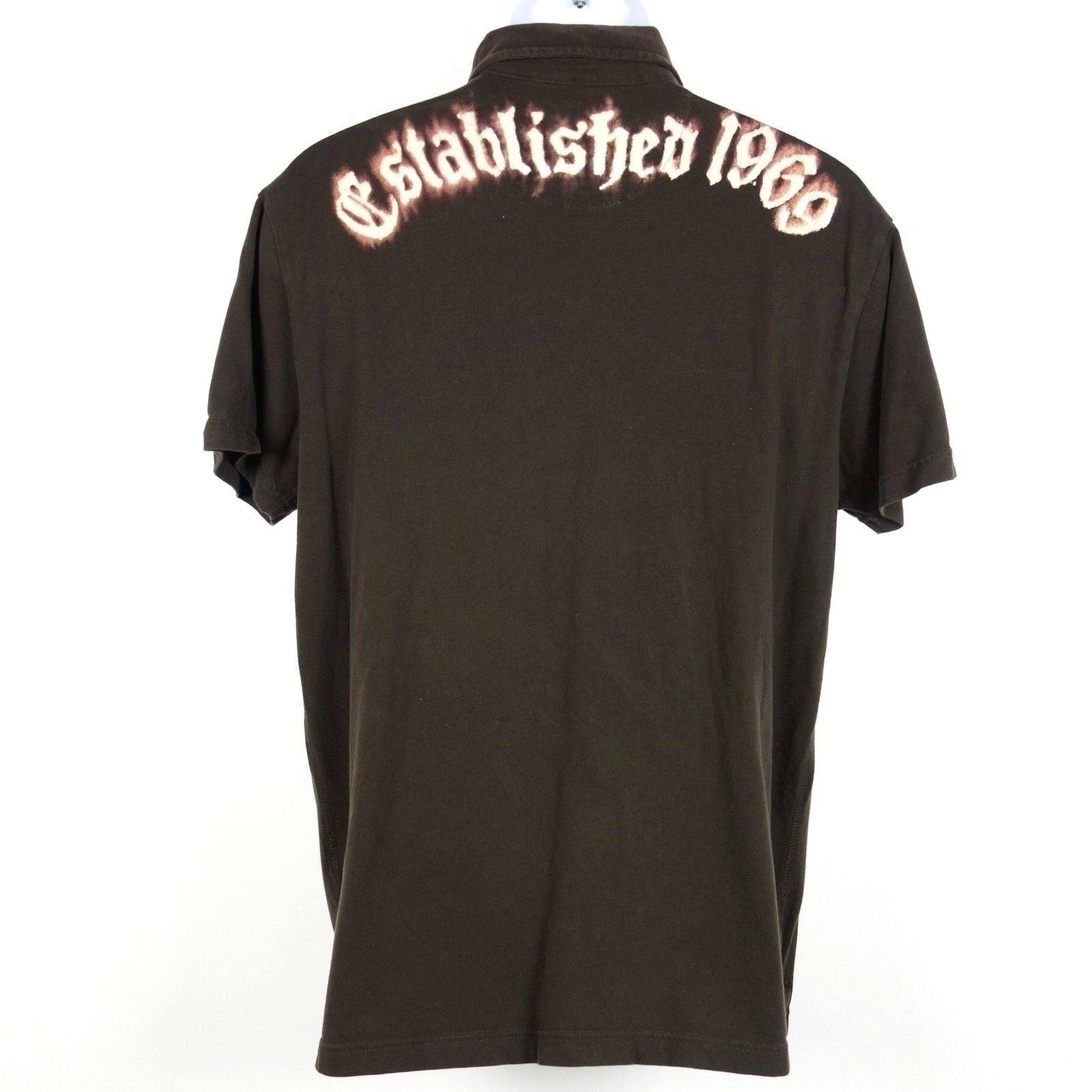 Gap Pocket Polo Shirt Men's Large Brown Cotton Bleached Design Established 1969 image 3