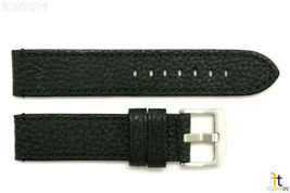 24mm Black Textured Leather Watch Band w/Stitching Fits Luminox Anti-All... - $34.15