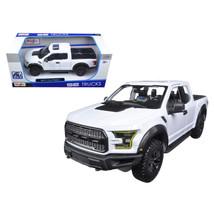2017 Ford Raptor Pickup Truck White 1/24 Diecast Model Car by Maisto 31266w - $37.35