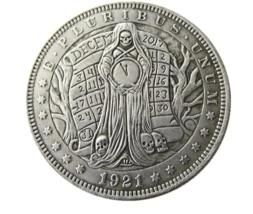 Hobo Nickel Morgan Dollar Skull Angle Death Time Lucifer Devil Nickle US... - $10.44