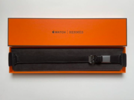 Apple Watch Hermes 40mm Case Double Tour Black Leather Belt Double Band New - $654.38