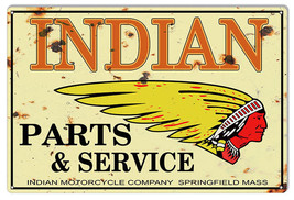 Indian Motorcycle Genuine Parts Vintage Metal Sign 16x24 - $41.58