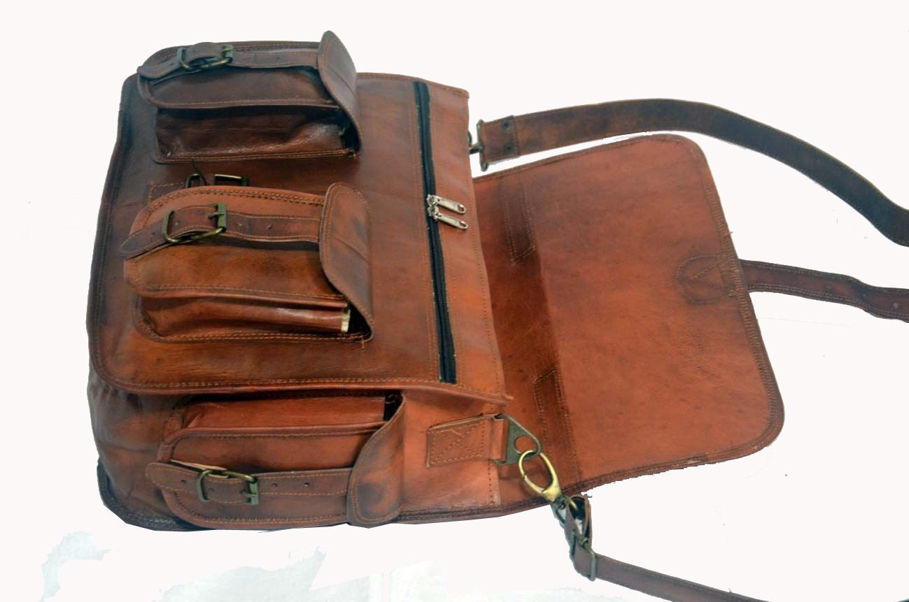 New Messenger Shoulder Satchel Rustic Soft Leather Laptop School Briefcase Bag