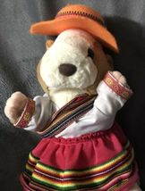 "Gemmy Hamster Mexican Spanish Dressed Girl Dress plush Doll 10"" Rare Gift! image 5"