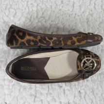 Michael Kors Bailarinas Zapatos Mujer 6.5M Estampado Leopardo Pantorrill... - $74.89