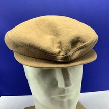 Stetson News boy hat newsboy medium vintage gold lining snap rim vtg tan... - $67.54