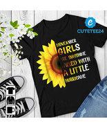 November Girls Are Sunshine Mixed With A Little Hurricane Sunflower Birt... - $21.99+