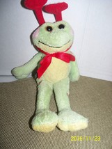 "plush green frog ganz ribbiting frabbit reptile stuffed animal 9"" length... - $19.80"