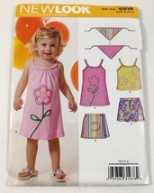 Simplicity New Look 6819 Sewing Pattern Childs Summer Dress Shorts Scarf... - $8.99