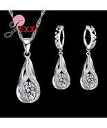 JEXXI 925 Sterling Silver Water Drop Theme Ladies Earrings & Pendant / N... - $8.20+