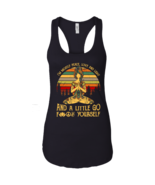 Yoga I'm Mostly Peace Love and Light and A Little Go Vintage NL1533 Ladi... - $27.00+